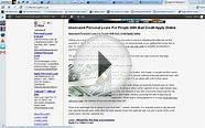 Personal Loans For People With Bad Credit-Guaranteed