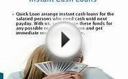 Quick Loan Instant Cash Loans loans for bad credit YouTube