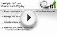 Quick Loans Payday - Easy Financial Support For Employed