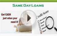 Same Day Loans- Get Easy Funds In Your Account For Your