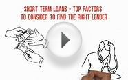 Short Term Loans – Top Factors To Consider To Find The