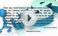 small loans for people on benefits - short term loans