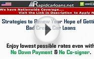 Strategies to Renew Your Hope of Getting Bad Credit Car Loans