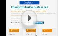 Text Loans, Instant Text Loans, Text Loans No Credit Check