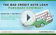 The Bad Credit Auto Loan Purchase Contract