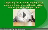 The Ease Of The 1 Hour Pay Day Advance Loan