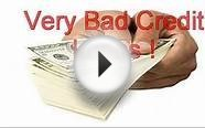 Very Bad Credit Loans Lenders Very Bad Credit Loans